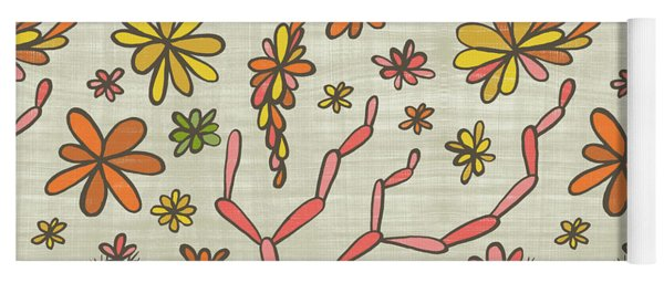 Flowering Cacti Elements Yoga Mat
