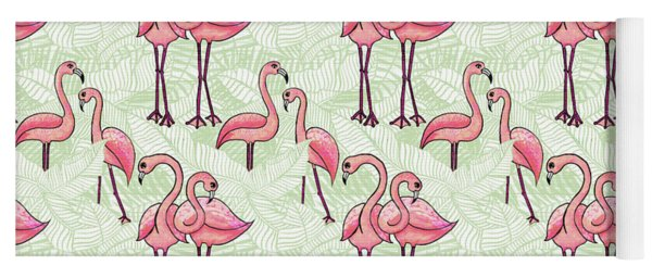 Flamingo Pattern Yoga Mat