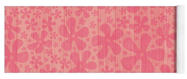 Tropical Floral Pattern Yoga Mat