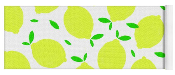 Sunny Lemon Pattern Yoga Mat