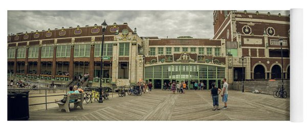 Yoga Mat featuring the photograph Asbury Park Convention Hall by Steve Stanger