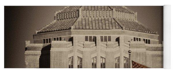 Asheville City Hall Sepia Yoga Mat