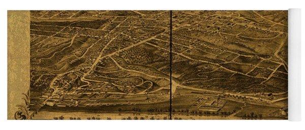 Asheville North Carolina Vintage City Street Map 1891 Yoga Mat