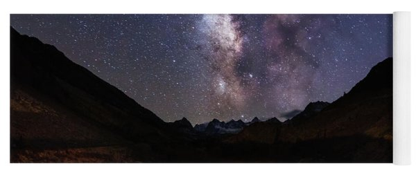 Yoga Mat featuring the photograph Aspen Nights by Tassanee Angiolillo