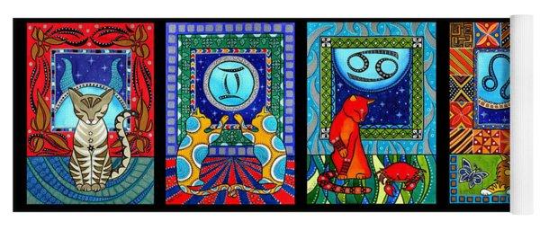 Astrology Cat Zodiacs Yoga Mat