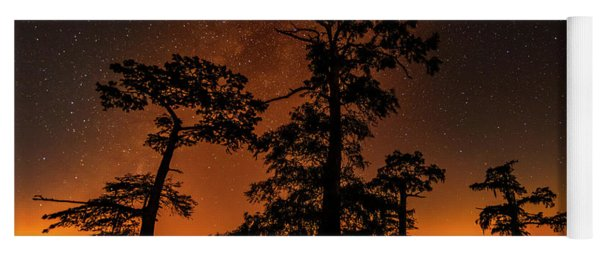 Yoga Mat featuring the photograph Atchafalaya Basin On Fire by Andy Crawford