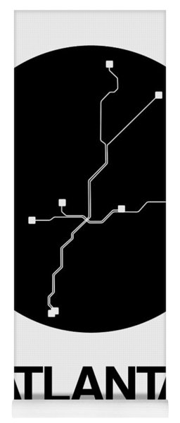 Atlanta Black Subway Map Yoga Mat
