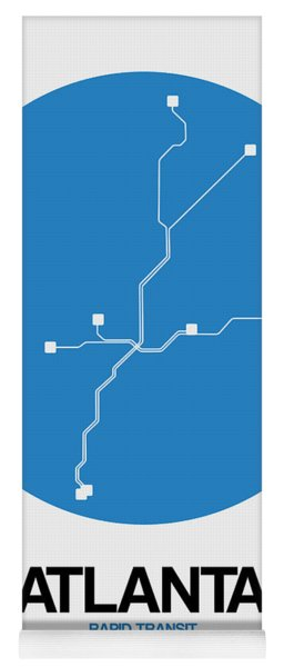 Atlanta Blue Subway Map Yoga Mat