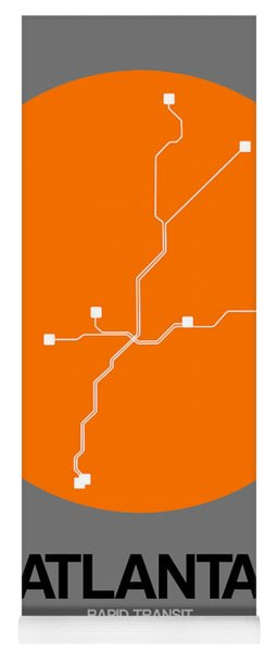 Atlanta Orange Subway Map Yoga Mat