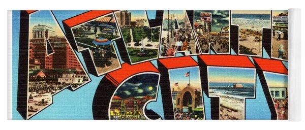 Atlantic City Greetings #3 Yoga Mat
