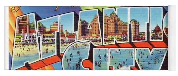 Atlantic City Greetings #4 Yoga Mat