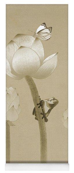 Atop The Lotus Flower Yoga Mat