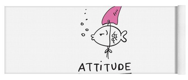 Attitude - Baby Room Nursery Art Poster Print Yoga Mat
