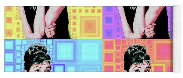 Audrey Hepburn Breakfast At Tiffanys In Mca Mid Century Abstract Squares Four 20190223 Yoga Mat
