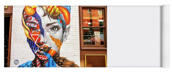 Audrey Mural In Little Italy New York City Yoga Mat