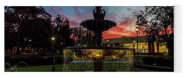 Augusta University Fountain Sunset Ga Yoga Mat
