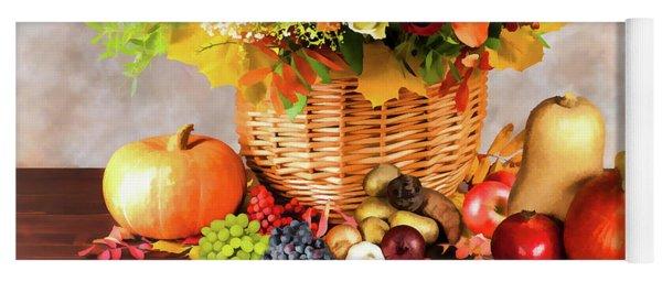 Autum Harvest Yoga Mat