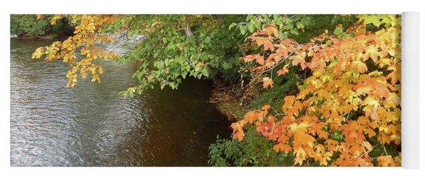 Autumn Along The Huron River Yoga Mat