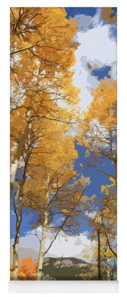 Autumn Aspens In The Rockies Yoga Mat