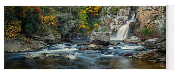 Autumn At Linville Falls - Linville Gorge Blue Ridge Parkway Yoga Mat