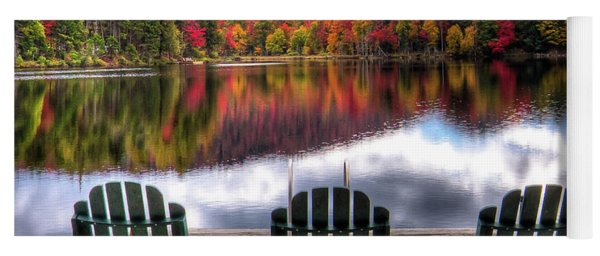 Autumn At The Lake Yoga Mat