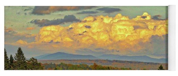 Autumn Clouds Over Maine Yoga Mat