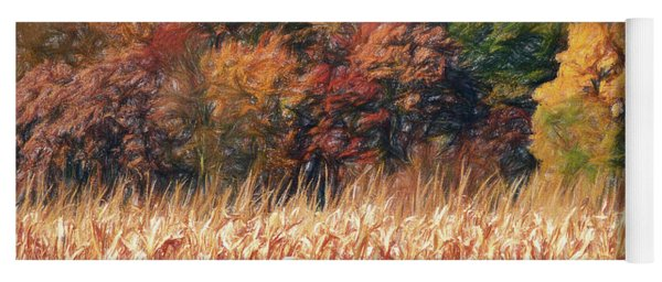 Autumn Cornfield Yoga Mat
