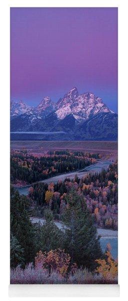 Autumn Dawn Snake River Overlook Grand Tetons Np Wyoming Yoga Mat