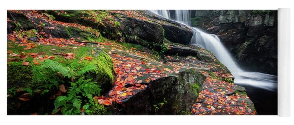 Yoga Mat featuring the photograph Autumn Falling 3 by Bill Wakeley