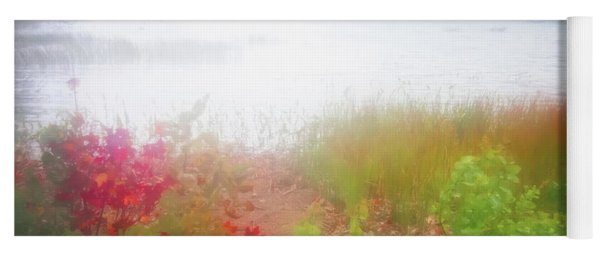 Autumn Fog On Eagle Lake Yoga Mat