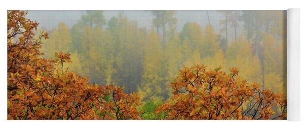 Autumn Foggy Day Yoga Mat