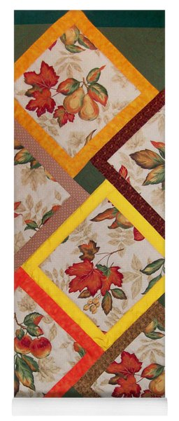 Autumn Fruit And Leaves Yoga Mat