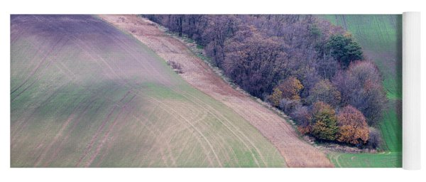 Yoga Mat featuring the photograph Autumn In Moravia 10 by Dubi Roman