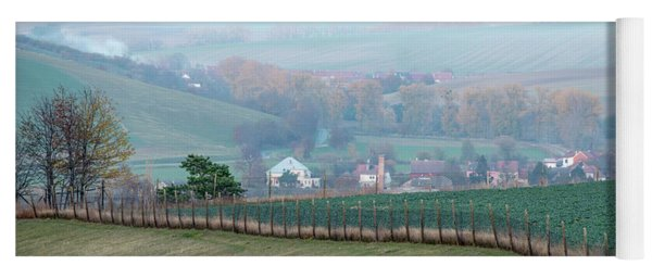 Yoga Mat featuring the photograph Autumn In Moravia 6 by Dubi Roman