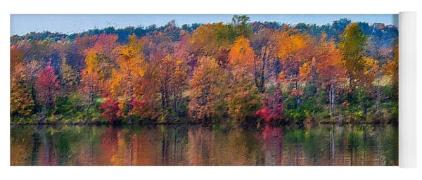 Autumn Lake  Yoga Mat