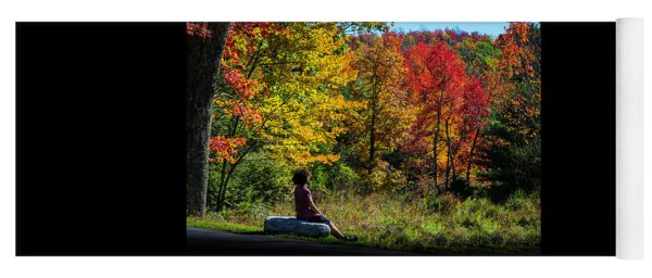 Autumn Leaves In The Catskill Mountains Yoga Mat