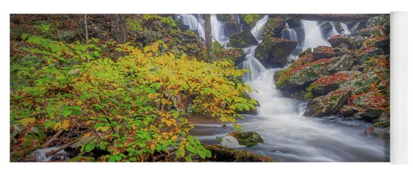Yoga Mat featuring the photograph Autumn Mist by Bill Wakeley
