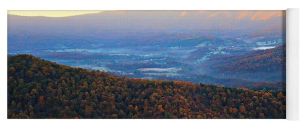 Autumn Mountains  Yoga Mat