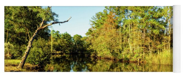 Yoga Mat featuring the photograph Autumn On The Bayou by Kay Brewer