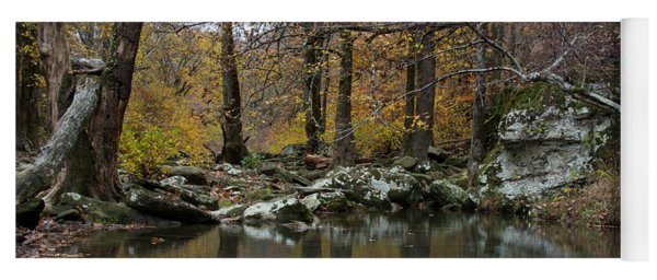 Autumn On The Kings River Yoga Mat