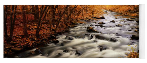 Autumn On The Little River Yoga Mat