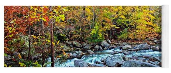 Autumn River Memories Yoga Mat