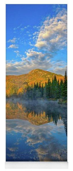 Autumn Sky, Mountain Pond Yoga Mat