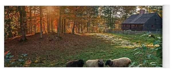 Autumn Sunset At The Old Farm Yoga Mat