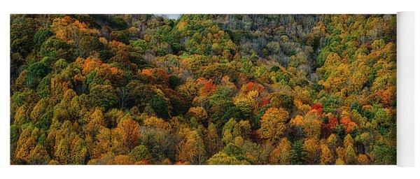 Autumn View Of The Bald Mountains  Yoga Mat