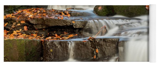 Yoga Mat featuring the photograph Autumn Waterfall by Scott Lyons