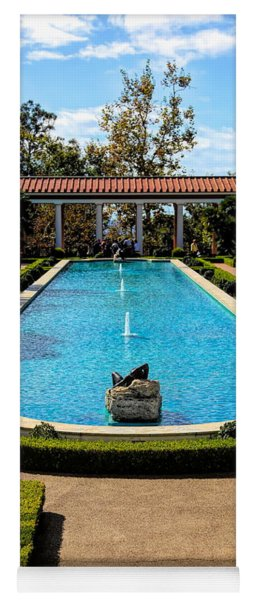 Awesome View Getty Villa Pool  Yoga Mat