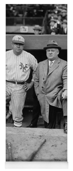 Babe Ruth And John Mcgraw New York Yoga Mat