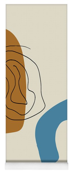 Badlands 1 Minimalist Abstract Yoga Mat