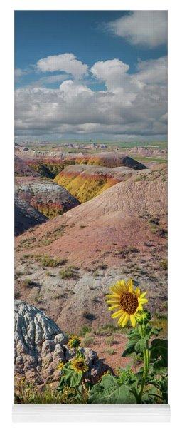 Badlands Sunflower - Vertical Yoga Mat